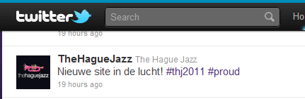 Twitter The Hague Jazz nieuwe website